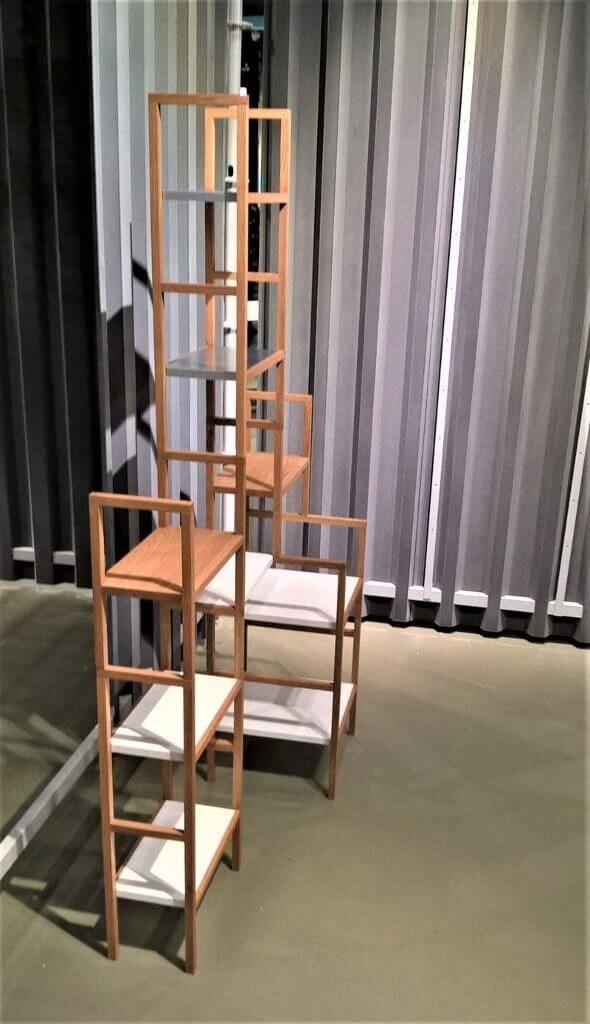 Bücherregal an Designausstellung dieForm